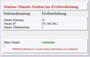 spsXChange Simatic / Scanner Stationsüberwachung
